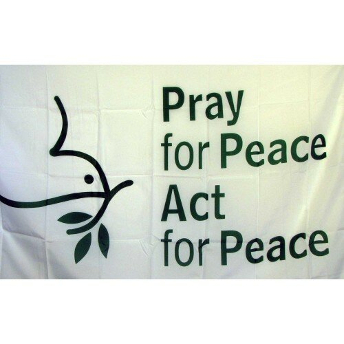 Pray For Peace Religious Traditional Flag by NeoPlex