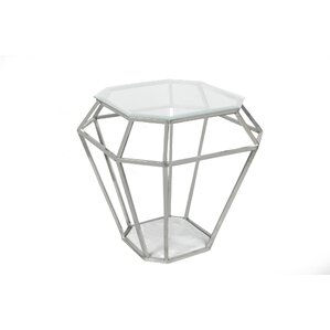Diamond End Table by Fashion N You by Horizon Interseas