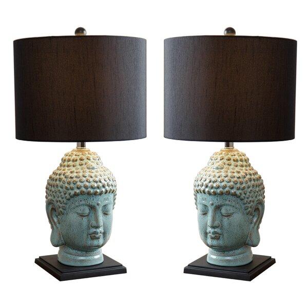 Pellegrini Buddha 23 Table Lamp (Set of 2) by World Menagerie
