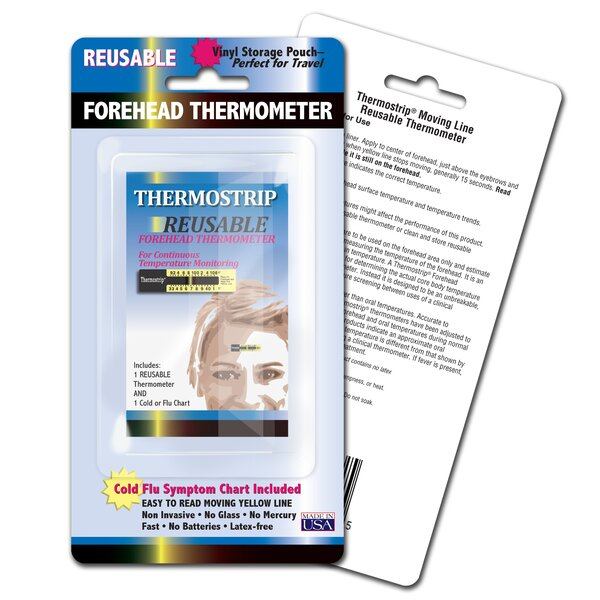 LCR Hallcrest Thermostrip Reusable Forehead Thermometers, 3pk by LCR Hallcrest