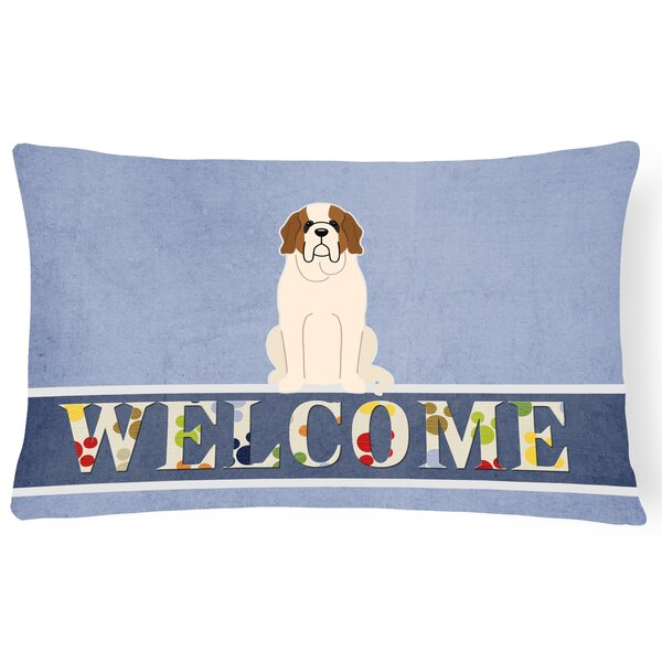 Heimann Saint Bernard Welcome Lumbar Pillow by Red Barrel Studio