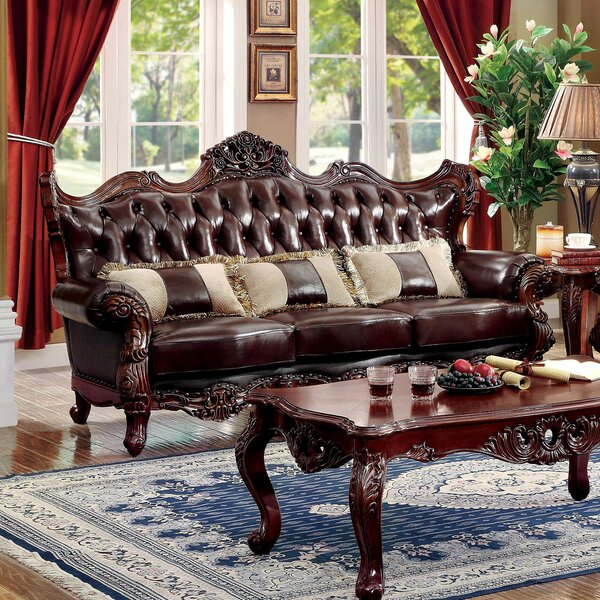 Fresh Collection Durden Leather Sofa by Astoria Grand by Astoria Grand