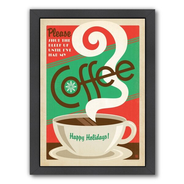 Coffee X-Mas Coffee Framed Vintage Advertisement by East Urban Home