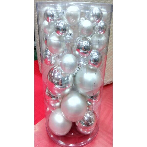 40 Piece Glass Christmas Ball Ornament by The Holiday Aisle
