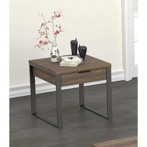 End Table Aged Walnut By Union Rustic