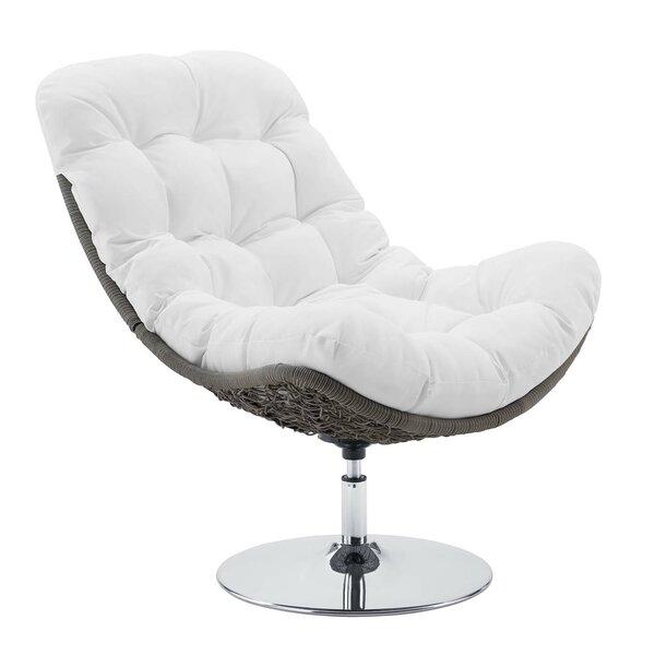 Mauston Wicker Rattan Swivel Patio Chair By Ivy Bronx