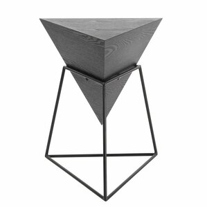Wood/Metal Triangle End Table