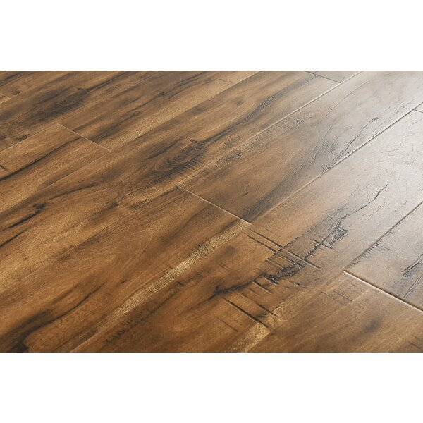Adrien 6 x 48 x 12mm Curupy Laminate Flooring in Smokey Tan by Serradon