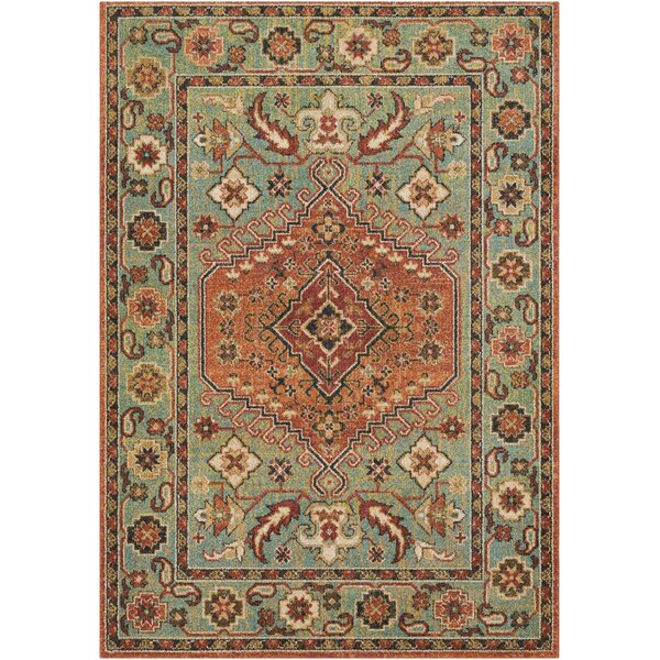 Naranjo Market Traditional Green Area Rug by World Menagerie
