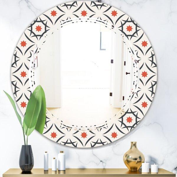 Triple C Abstract Design V Modern & Contemporary Frameless Wall Mirror