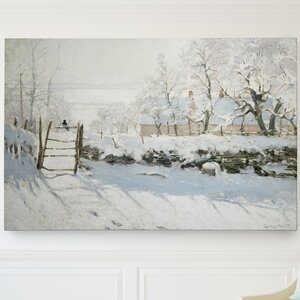 'The Magpie' by Claude Monet Painting Print on Wrapped Canvas by Wexford Home