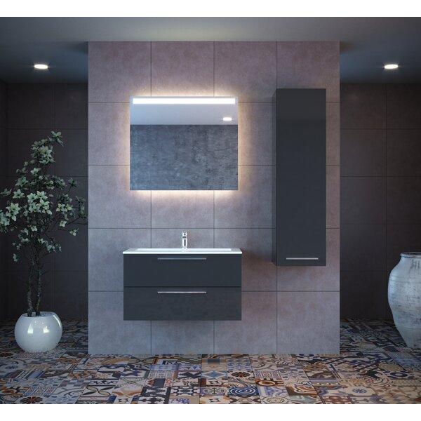 Kyle 24 Wall-Mounted Single Bathroom Vanity Set with Mirror by Orren Ellis