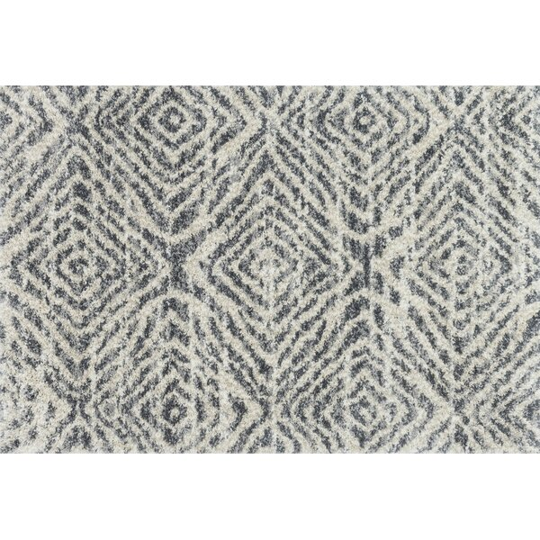 Palmquist Graphite/Sand Area Rug by Bungalow Rose