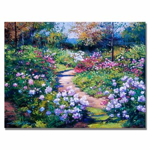 'Natures Garden' by David Lloyd Glover Painting Print on Canvas by Trademark Fine Art