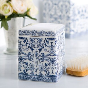 Read Reviews Kit Porcelain Cotton Container ByCharlton Home