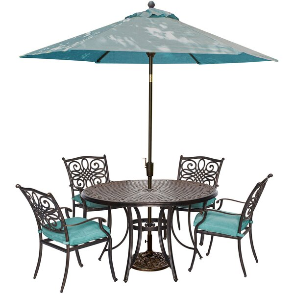 Lauritsen 5 Piece Bold & Eclectic Modern Dining Set with Cushions by Three Posts