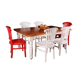 Exceptionnel Adelmo 7 Piece Whitewashed Dining Set