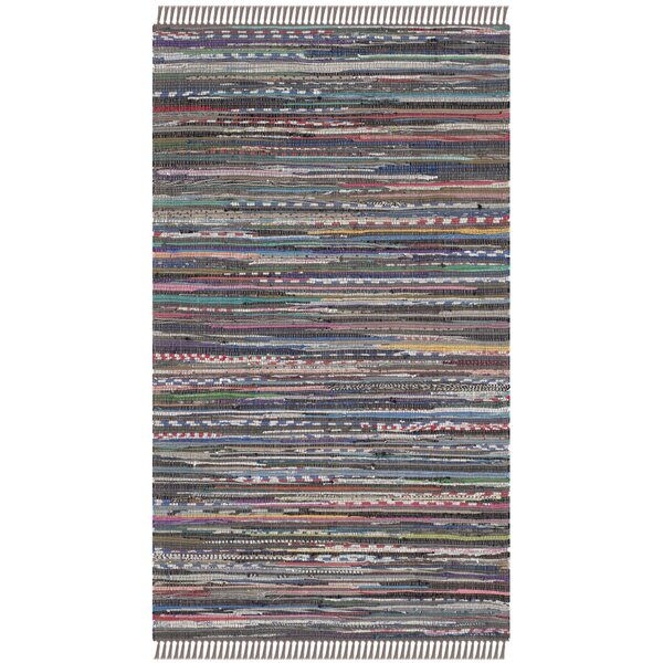 Hatteras Contemporary Hand-Woven Grey/Red/Green Area Rug by Beachcrest Home