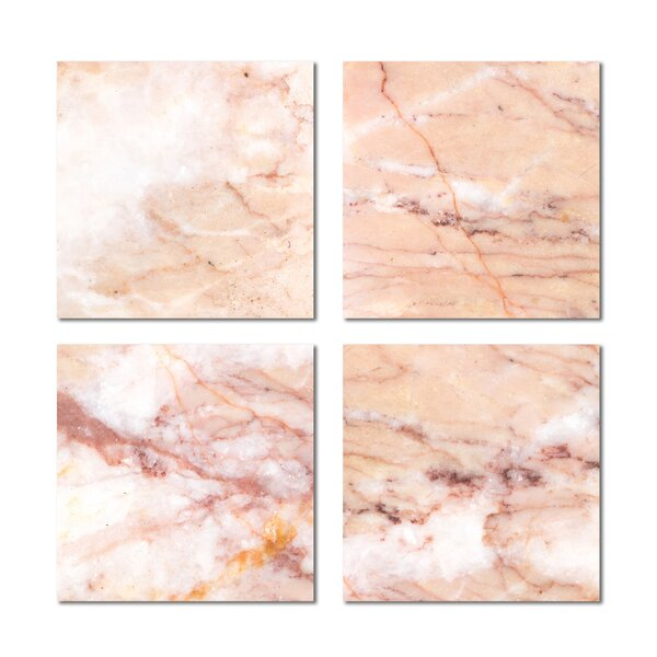 6 x 6 Beveled Glass Field Tile in Pink by Upscale Designs by EMA