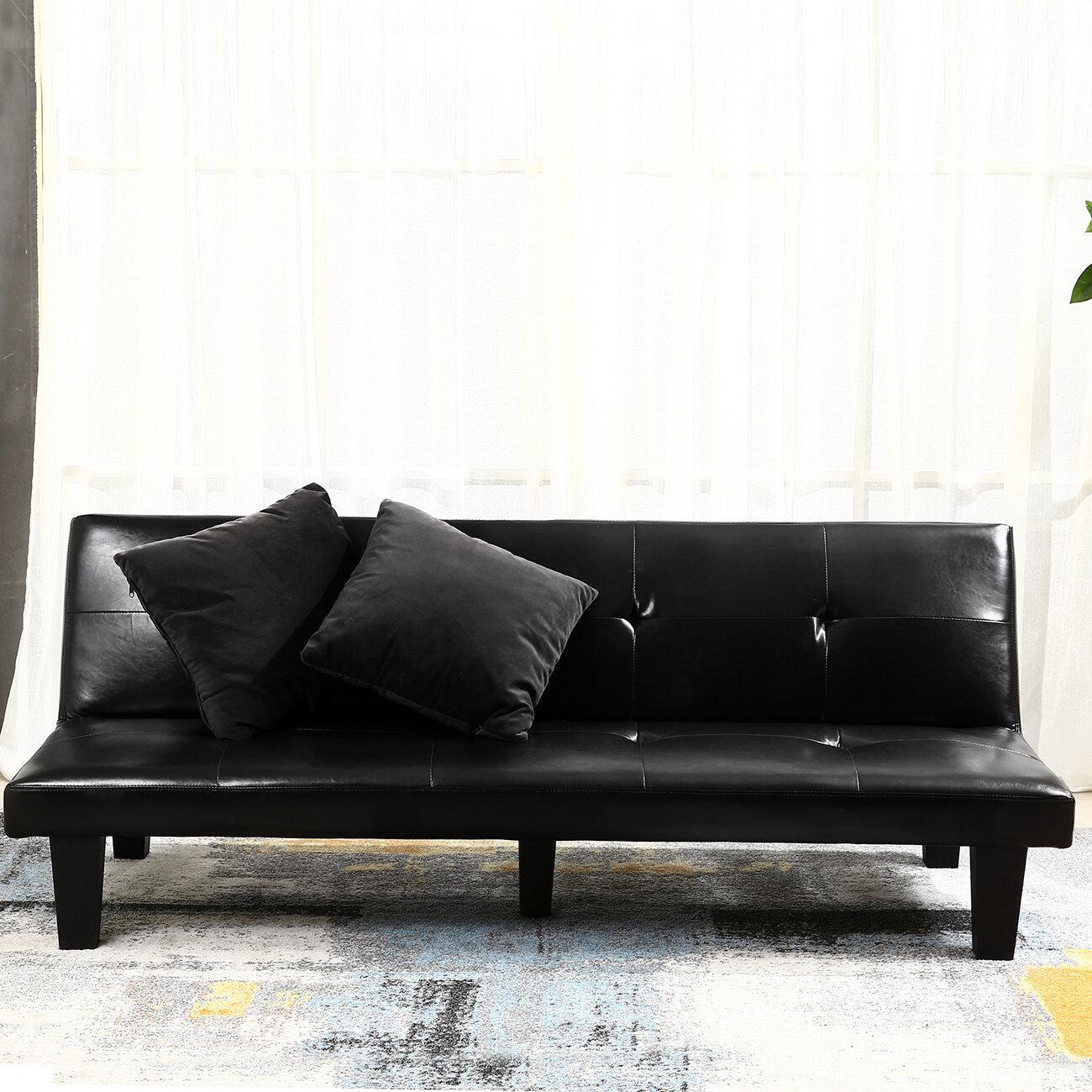 belleze convertible sofa  u0026 reviews   wayfair  rh   wayfair