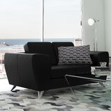 Alonso Leather Loveseat by Wade Logan®
