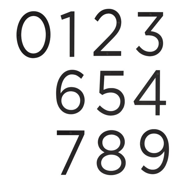 Surface Mount House Number By Sure Loc Hardware.
