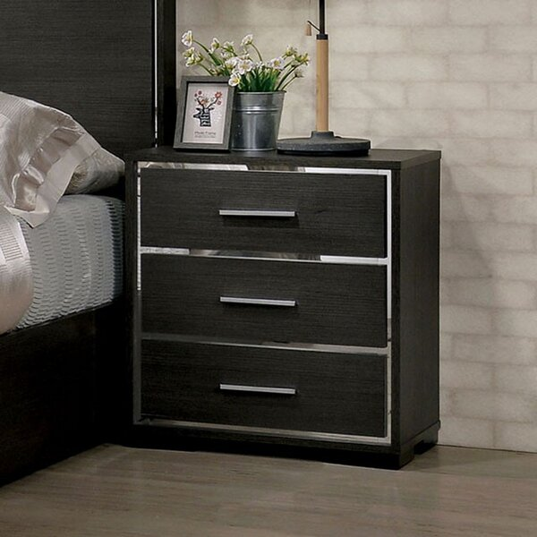 Montagna 3 Drawer Nightstand by Orren Ellis