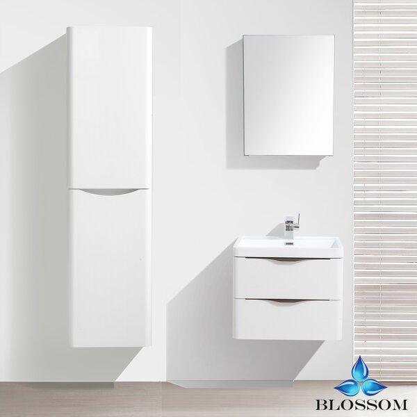 Manes 24 Wall Mounted Single Bathroom Vanity Set with Mirror by Orren Ellis