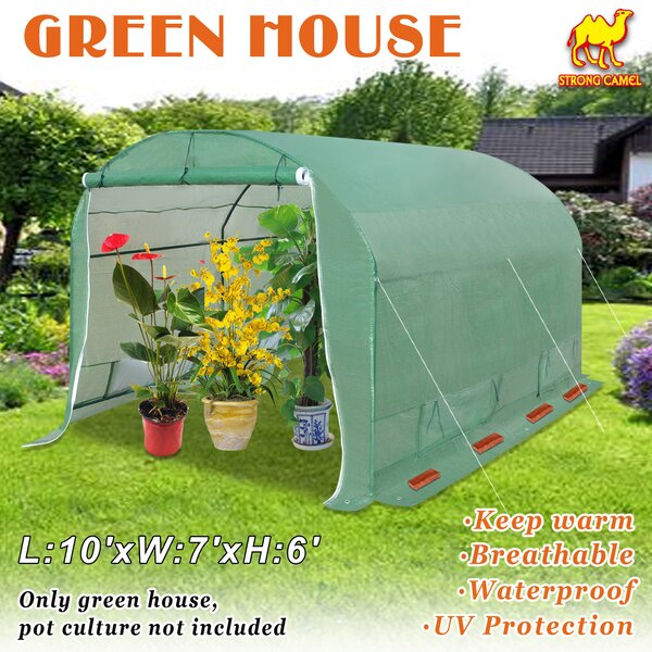 Canopy Gazebo 10 Ft. W x 7 Ft. D Hobby Greenhouse by Strong Camel