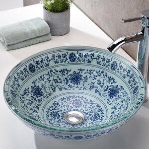 Cadence Glass Circular Vessel Bathroom Sink