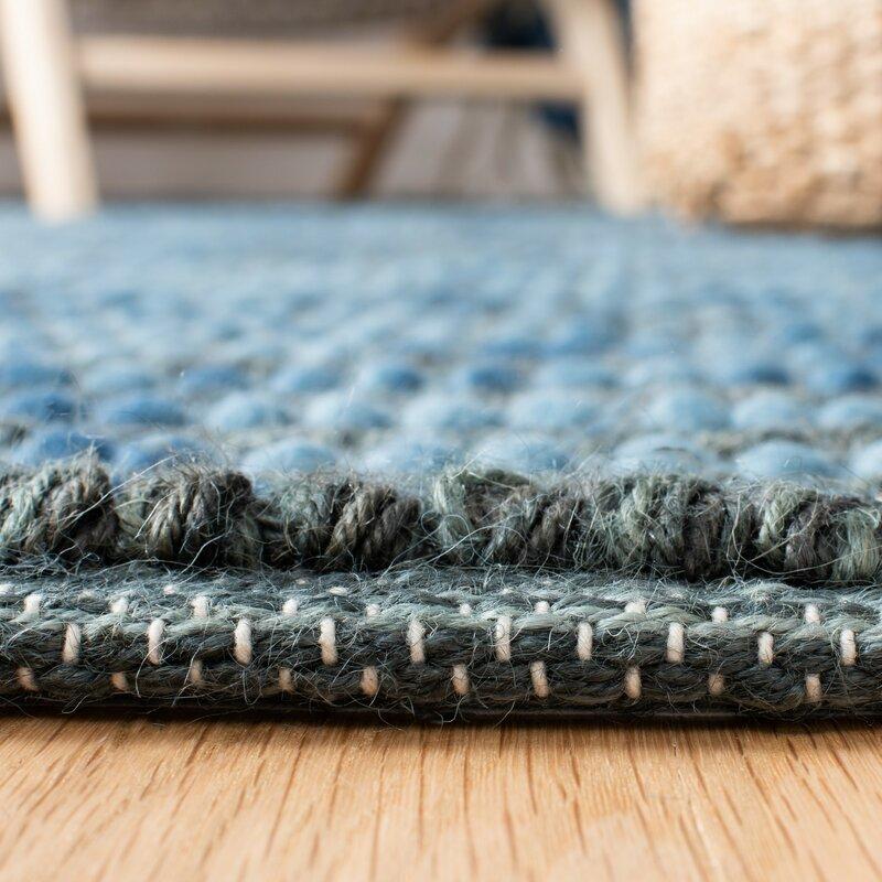 Makhi Striped Hand Knotted Wool Dark Blue Area Rug Reviews Joss Main