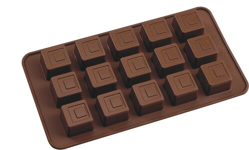 La Patisserie Non-Stick Chocolate Square Decorative Mold (Set of 2) by MyCuisina