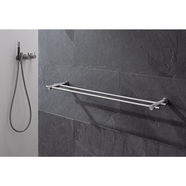 Double Wall Mounted Towel Bar by AGM Home Store