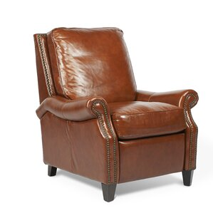 Brighton Leather Manual Recliner by Palatial Furniture