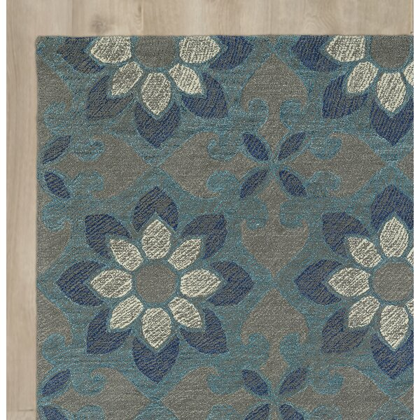 Hand-Tufted Blue Area Rug by August Grove
