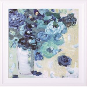 Harmony In Blue Jennifer Harwood Framed Painting Print by Art Effects