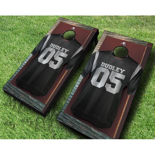 Locker Room Cornhole Set by AJJ Cornhole