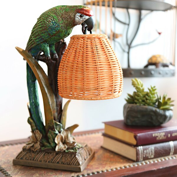 Snell Welcoming Parrot 13.8 Table Lamp by Bay Isle Home