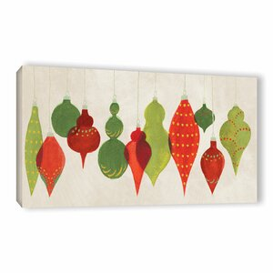 'Festive Decorations Ornaments' by Danhui Nai Painting Print on Wrapped Canvas