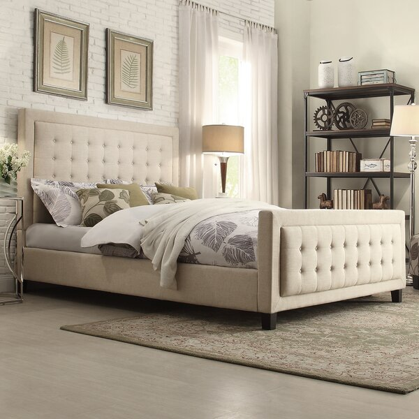 Woodside Upholstered Panel Bed by Three Posts