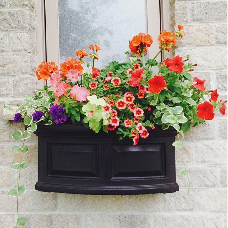 Window Box Planter Ideas: Mayne Inc. Nantucket Self-Watering Plastic Window Box