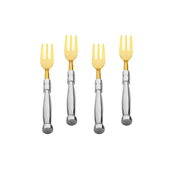 Keown Stainless Steel Dessert Fork (Set of 4) by Everly Quinn
