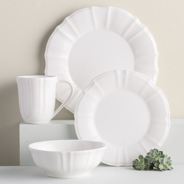 Jerrell 16 Piece Dinnerware Set, Service for 4 (Set of 16) by Mint Pantry