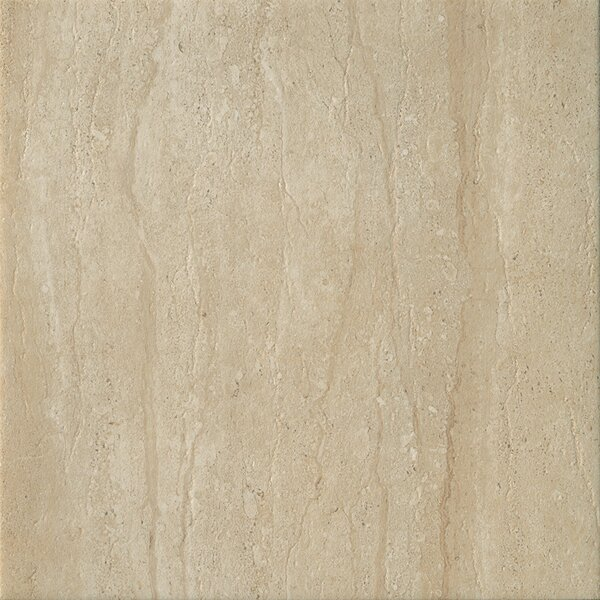 Travertini 16.75 x 16.75 Porcelain Field Tile in Matte Cream by Samson