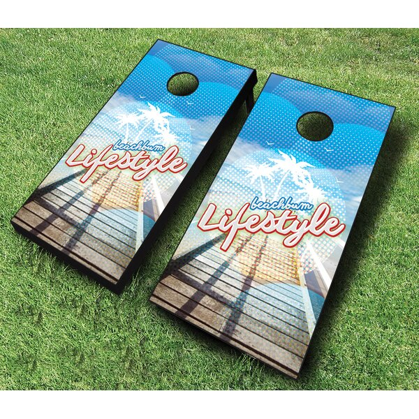 10 Piece Beach Bum Lifestyle Cornhole Set by AJJ Cornhole
