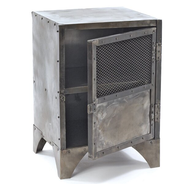 Lopiccolo Vintage Steel Shoe Accent Cabinet by Trent Austin Design