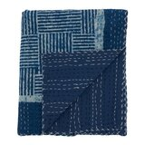 Paulene Block Print Cotton Throw by Bungalow Rose