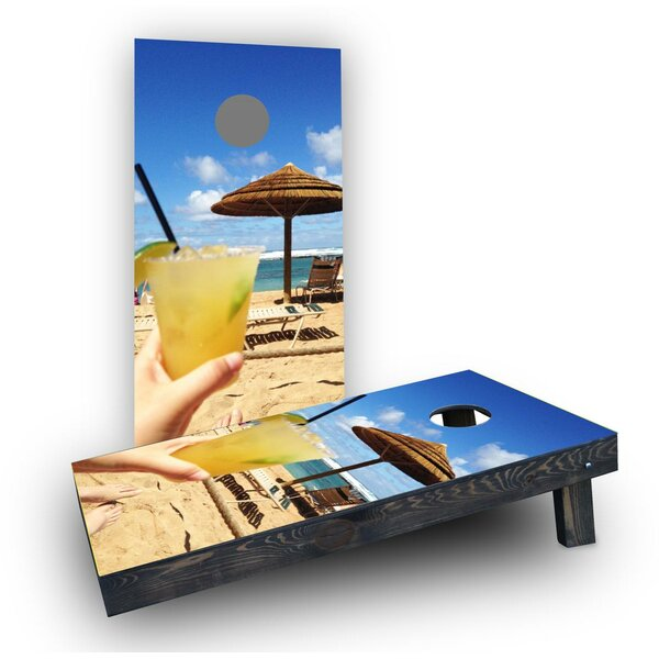 Margaritas on the Beach Cornhole Boards (Set of 2) by Custom Cornhole Boards