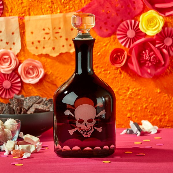 Skellington Skull And Crossbones Decanter By The Holiday Aisle.