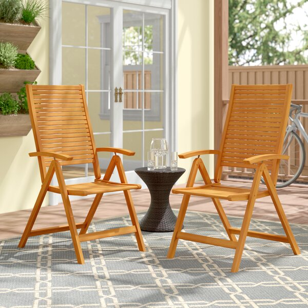 Cadsden Reclining Beach Chair (Set of 2) by Three Posts Three Posts